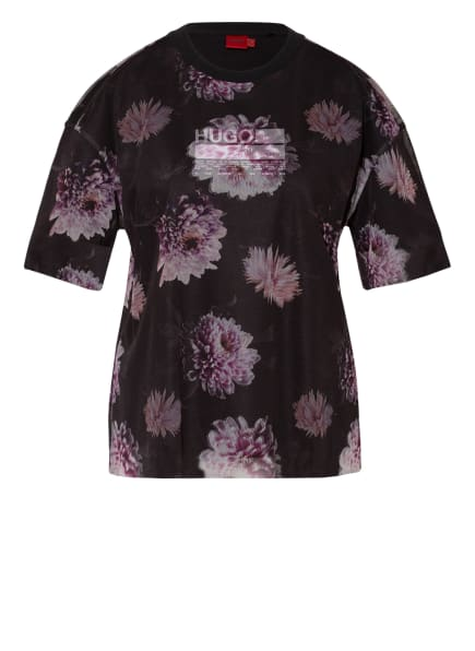 HUGO T-Shirt DARJE, Farbe: SCHWARZ/ ROSA (Bild 1)