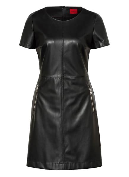 HUGO Kleid KALLENA in Lederoptik, Farbe: SCHWARZ (Bild 1)