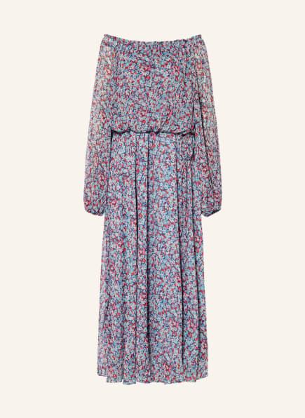 ROTATE BIRGER CHRISTENSEN Off-Shoulder-Kleid CARLY, Farbe: HELLBLAU/ ROSA/ BLAU (Bild 1)