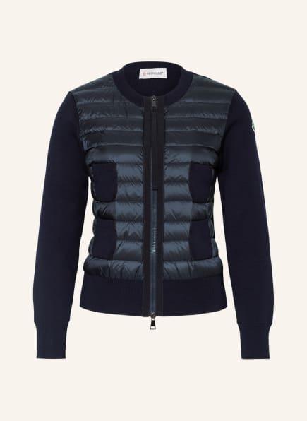 MONCLER Jacke im Materialmix, Farbe: DUNKELBLAU (Bild 1)