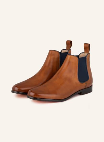 MELVIN & HAMILTON Chelsea-Boots SELINA, Farbe: HELLBRAUN (Bild 1)