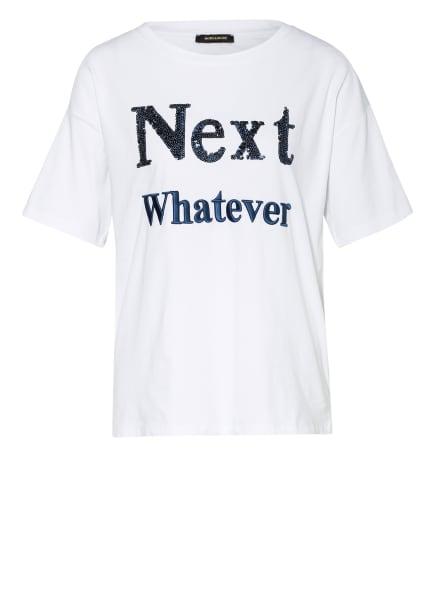 MORE & MORE T-Shirt mit Paillettenbesatz, Farbe: WEISS (Bild 1)