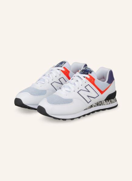 new balance Sneaker 574, Farbe: WEISS/ HELLGRAU/ ROT (Bild 1)