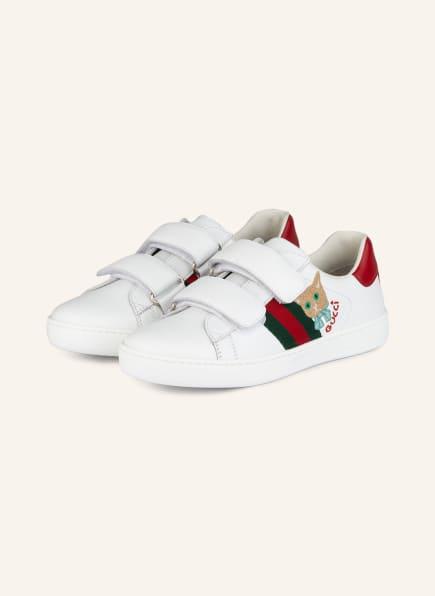 GUCCI Sneaker, Farbe: WEISS/ ROT/ GRÜN (Bild 1)