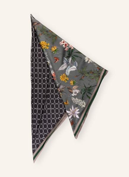 CODELLO Dreieckstuch aus Seide, Farbe: GRAU/ GRÜN/ GELB (Bild 1)