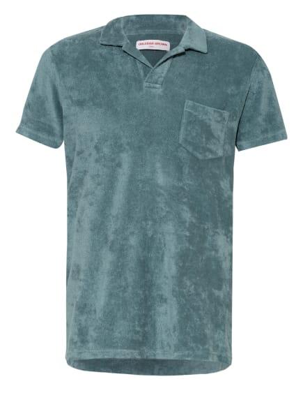ORLEBAR BROWN Frottee-Poloshirt, Farbe: PETROL (Bild 1)