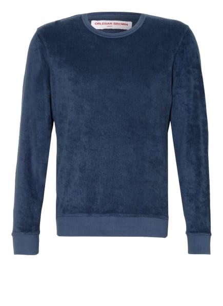 ORLEBAR BROWN Sweatshirt aus Frottee, Farbe: PETROL (Bild 1)