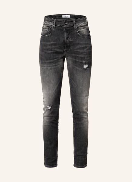 REPLAY Destroyed Jeans WILLBI Regular Slim Fit, Farbe: 097 DARK GREY (Bild 1)