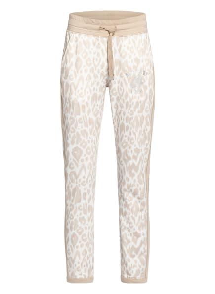 monari Sweatpants mit Galonstreifen, Farbe: WEISS/ BEIGE (Bild 1)