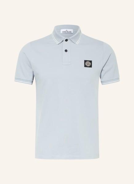 STONE ISLAND Piqué-Poloshirt Slim Fit, Farbe: HELLGRAU (Bild 1)