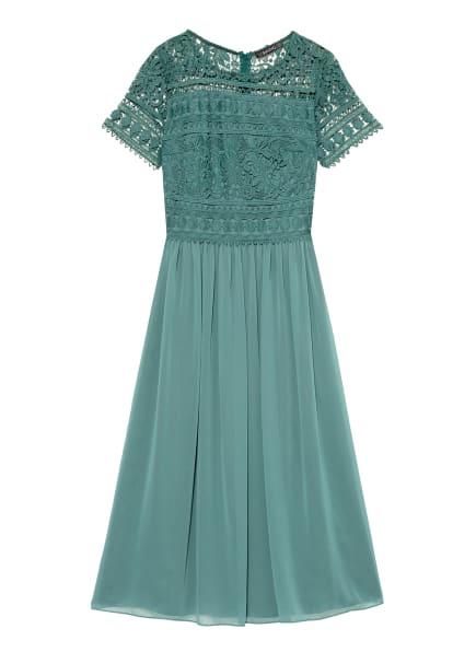 SWING Kleid mit Spitzenbesatz, Farbe: GRÜN (Bild 1)