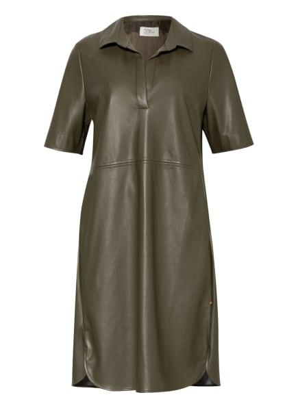ROBE LÉGÈRE Kleid in Lederoptik, Farbe: OLIV (Bild 1)