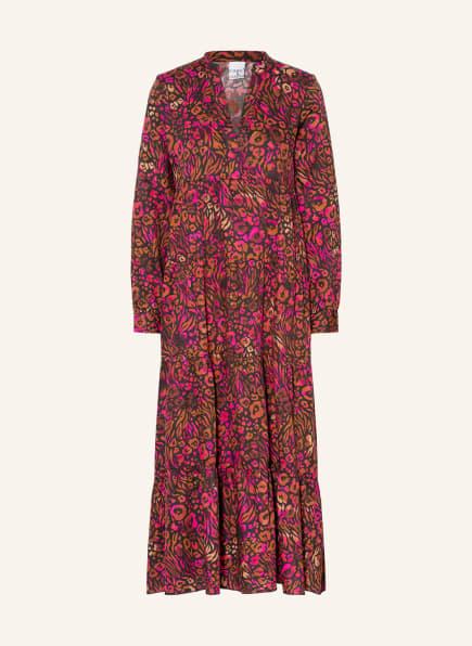 TONNO & PANNA Kleid RELLA, Farbe: SCHWARZ/ NEONROT/ HELLBRAUN (Bild 1)