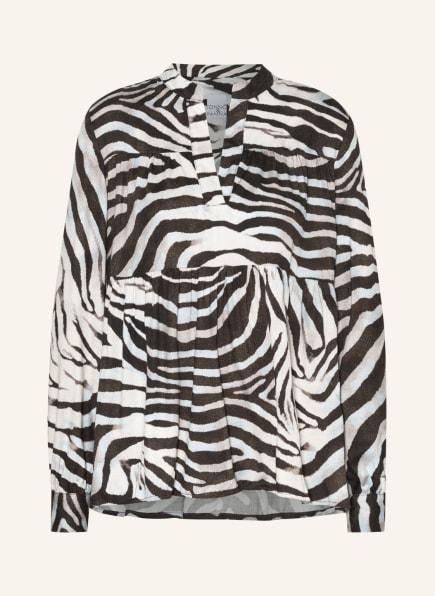TONNO & PANNA Blusenshirt ANTHEA, Farbe: SCHWARZ/ GRAU/ WEISS (Bild 1)