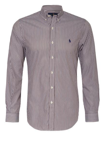 POLO RALPH LAUREN Hemd Slim Fit , Farbe: DUNKELBRAUN/ WEISS (Bild 1)