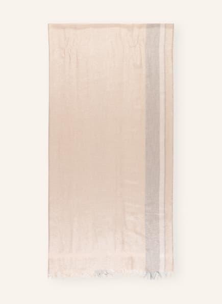 FABIANA FILIPPI Schal mit Glitzergarn, Farbe: BEIGE (Bild 1)