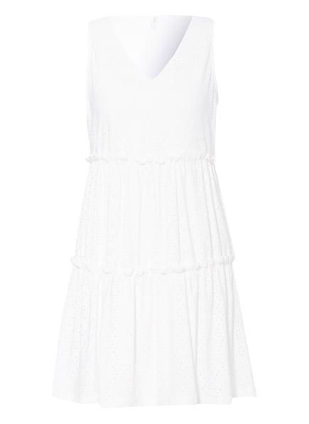 ONLY Kleid mit Lochstickereien, Farbe: WEISS/ BLAU/ DUNKELGRÜN (Bild 1)