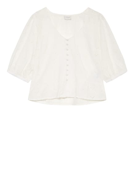 VILA Bluse mit 3/4-Arm , Farbe: WEISS (Bild 1)