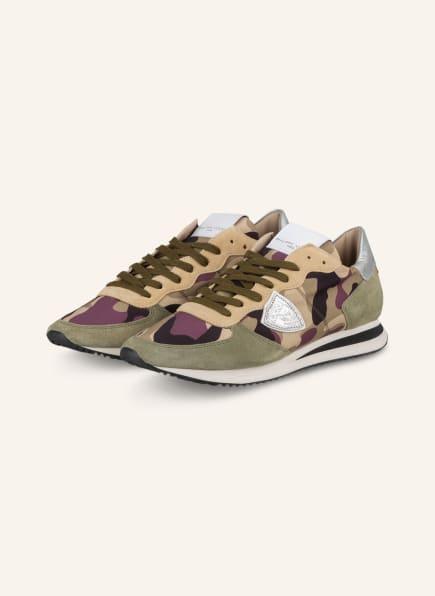 PHILIPPE MODEL Sneaker TRPX, Farbe: HELLGRÜN/ DUNKELLILA/ ECRU (Bild 1)