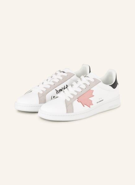 DSQUARED2 Sneaker BOXER, Farbe: WEISS/ SCHWARZ/ ROSÉ (Bild 1)