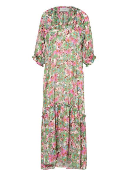 NEO NOIR Kleid MILLA mit 3/4-Arm, Farbe: GRÜN/ WEISS/ PINK (Bild 1)