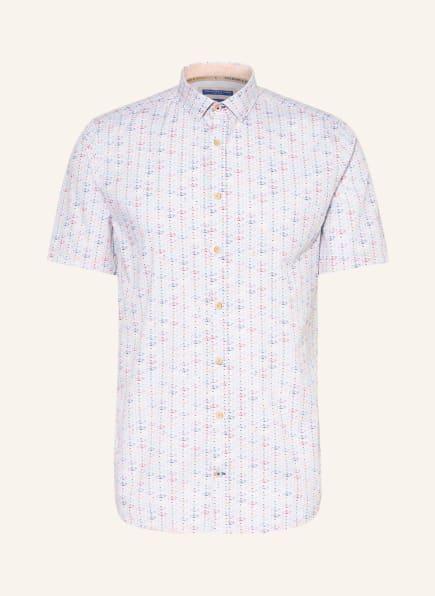 COLOURS & SONS Kurzarm-Hemd Slim Fit, Farbe: WEISS/ GELB/ BLAU (Bild 1)