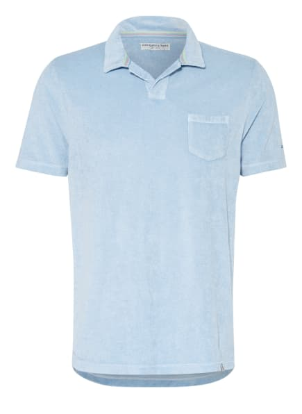 COLOURS & SONS Frottee-Poloshirt, Farbe: HELLBLAU (Bild 1)