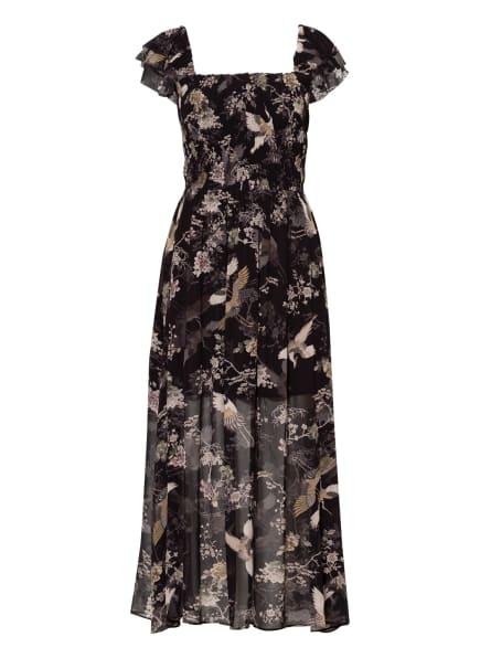 ALL SAINTS Kleid MALI AMARE, Farbe: SCHWARZ/ HELLROSA/ OLIV (Bild 1)