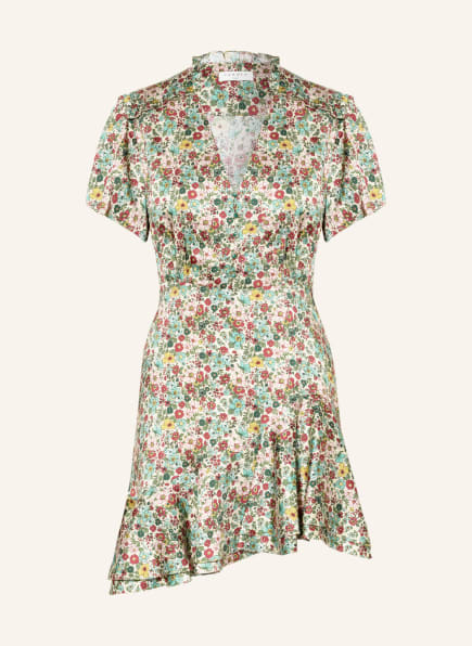 SANDRO Kleid, Farbe: GRÜN/ HELLROSA/ ECRU (Bild 1)