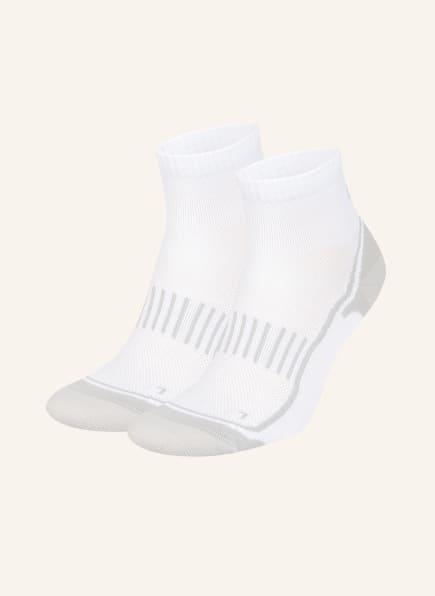 GET FIT 2er-Pack Running-Socken, Farbe: WHITE/GREY (Bild 1)