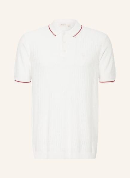 TED BAKER Strick-Poloshirt SOMERSE, Farbe: WEISS (Bild 1)