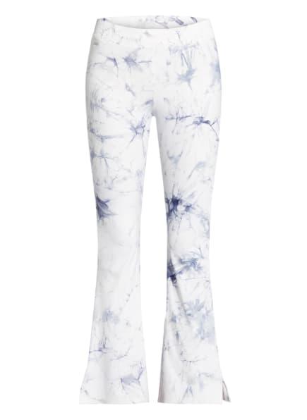 MAGIC Bodyfashion Leggings TIE-DYE, Farbe: WEISS/ HELLBLAU (Bild 1)