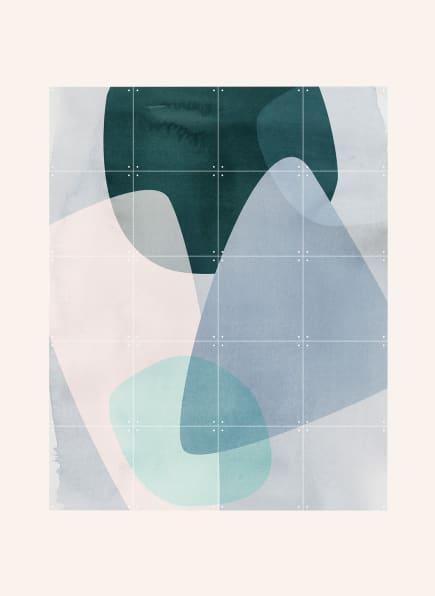 IXXI Wandpuzzle GRAPHIC 150 C, Farbe: GRÜN/ BLAUGRAU/ MINT (Bild 1)