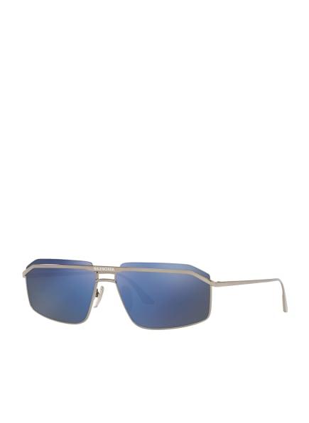 BALENCIAGA Sonnenbrille BB0139S, Farbe: 2600B1 - SILBER/ BLAU VERSPIEGELT (Bild 1)