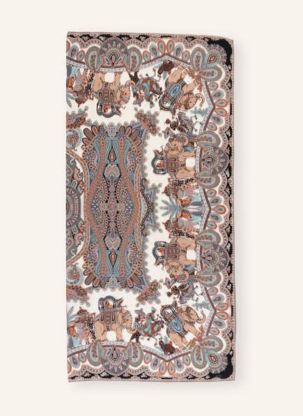 ROECKL Tuch mit Cashmere und Seide, Farbe: BRAUN/ TÜRKIS/ DUNKELORANGE (Bild 1)