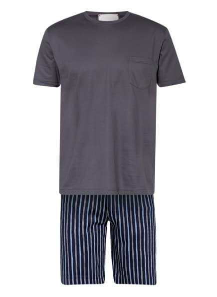 mey Shorty-Schlafanzug Serie PORTINO , Farbe: DUNKELBLAU/ DUNKELGRAU (Bild 1)