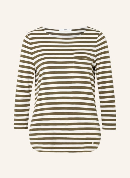 BRAX Shirt BONNIE mit 3/4-Arm, Farbe: OLIV/ ECRU (Bild 1)