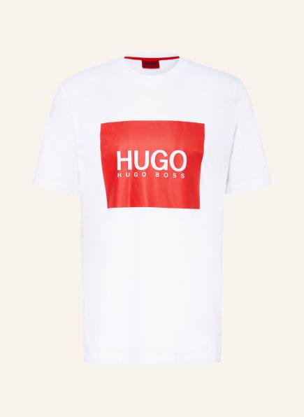 HUGO T-Shirt DOLIVE, Farbe: WEISS/ ROT (Bild 1)