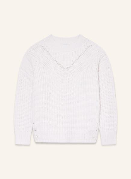 PESERICO Oversized-Pullover mit Alpaka, Farbe: WEISS (Bild 1)