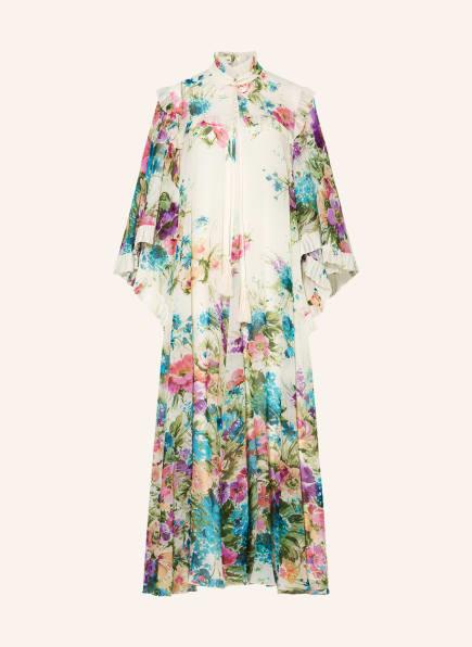 GUCCI Kleid mit 3/4-Arm und Rüschenbesatz, Farbe: ECRU/ HELLBLAU/ HELLGRÜN (Bild 1)
