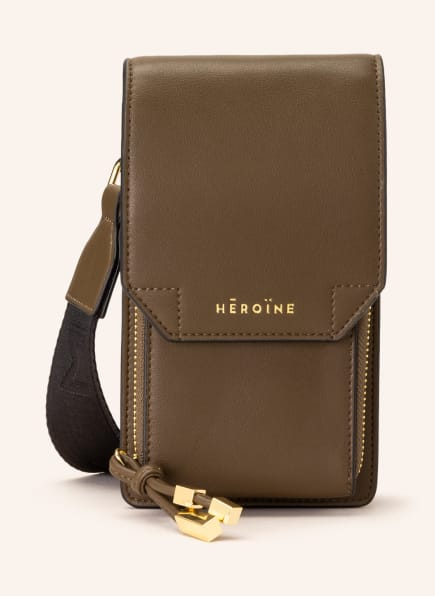 MAISON HÉROÏNE Smartphone-Tasche KAIA, Farbe: KHAKI (Bild 1)