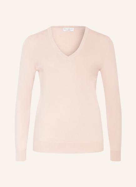 BRUNELLO CUCINELLI Cashmere-Pullover , Farbe: ROSÉ (Bild 1)