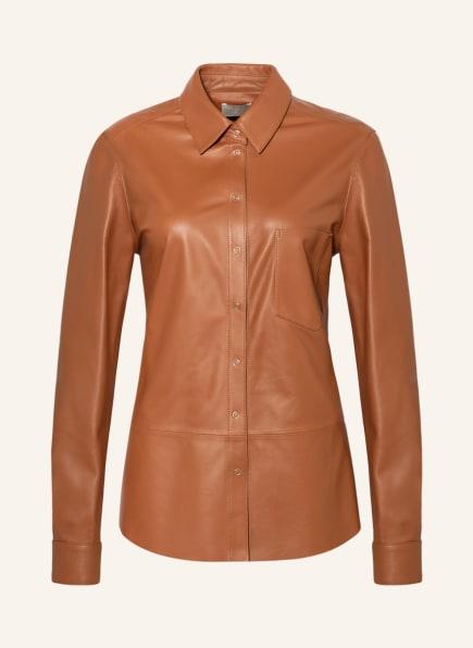 Mrs & HUGS Leder-Overshirt, Farbe: COGNAC (Bild 1)