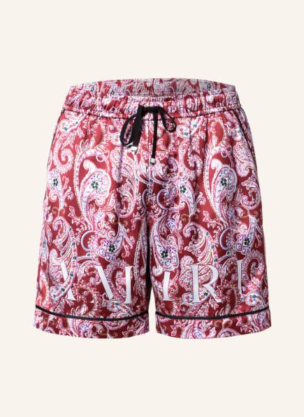 AMIRI Shorts, Farbe: DUNKELROT/ WEISS (Bild 1)