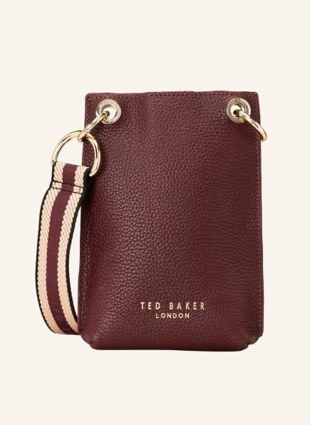 TED BAKER Smartphone-Tasche WEBBINS, Farbe: DUNKELROT (Bild 1)