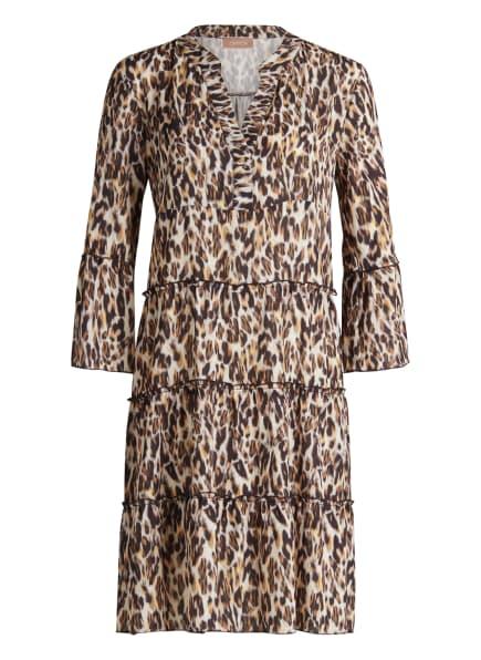 CARTOON Kleid mit 3/4-Arm, Farbe: ECRU/ DUNKELBRAUN/ HELLGELB (Bild 1)