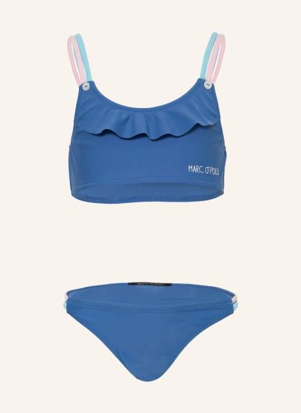 Marc O'Polo Bustier-Bikini mit UV-Schutz 50+, Farbe: HELLROSA/ BLAU/ HELLBLAU (Bild 1)