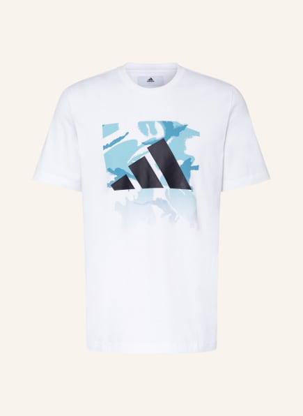 adidas T-Shirt CAMO, Farbe: WEISS (Bild 1)