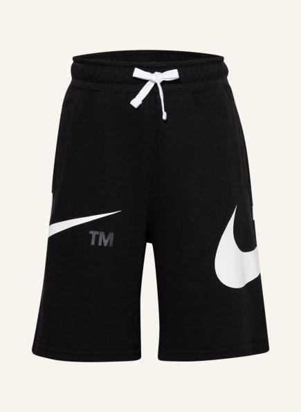 Nike Sweatshorts SPORTSWEAR SWOOSH, Farbe: SCHWARZ (Bild 1)