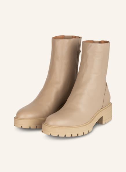AQUAZZURA Plateau-Boots SAINT HONORE, Farbe: BEIGE (Bild 1)